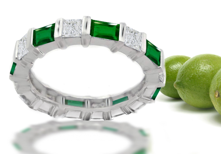 bands wg pave anniversary fascinating set round wedding diamonds emerald green white in band nl with gold jewelry cross diamond
