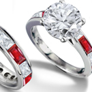 Ruby and Diamond Wedding Band