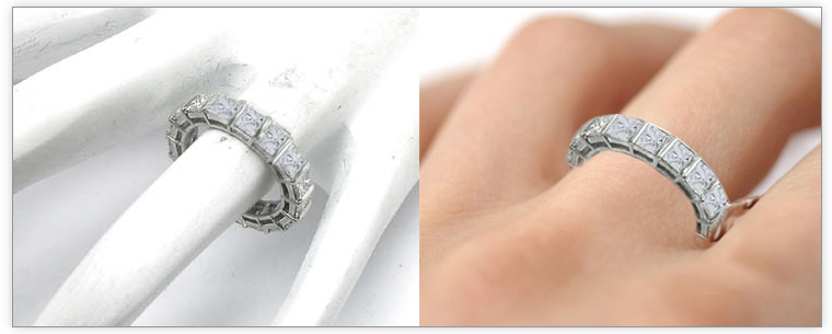 Diamond Color Gh Clarity Vs Si1 Setting Bar Ring Thickness 2 0 Mm