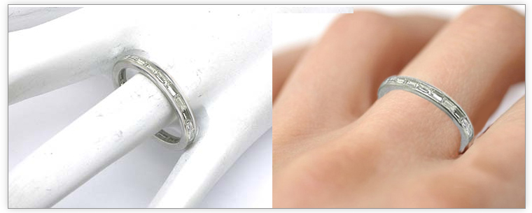 ring bands eternity baguette wedding band platinum attachment eb of information engagement