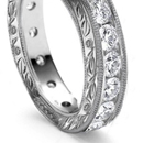 Twin-stone rings - Double or twin-stone rings of closely matched stones