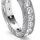 Four and Five Stone Diamond Half Hoop Rings