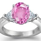 Certified Pink Sapphire Diamond Rings
