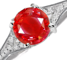 glowing hue of ruby, inner fire, flame, shine through clothing, heat, lighter hue, dark star rubies