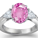 Fine Pink Sapphire Diamond Engagement Rings