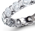 a large varying assortment in rings of all diamonds
