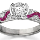 Ruby Diamond Rings, Diamond Ruby Rings, Ruby Diamond