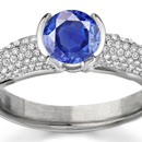 Antique ? 14K Gold Ring with 10mm Blue Sapphire & Mine Cut Diamonds (size 4.25)