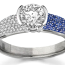 Gorgeous14K gold ring with natural sapphires & diamonds Retail $1,099 Size 7