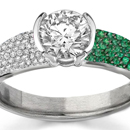 Emerald Rings in Platinum 500
