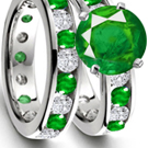 Mozambique Emerald Ring with Diamonds