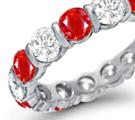Ruby Diamond Rings, Diamond Ruby Rings, Ruby Diamond Anniversary Bands, Burma Ruby, Thai Ruby, Vietnam Ruby