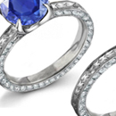 Ladies 1.00CTW Sapphire with 0.20CTW Pure Diamonds Cocktail Engagement Ring
