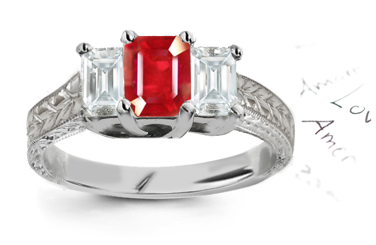 Ruby Diamond Engagement Ring Meaning Filigree Ruby Engagement Rings
