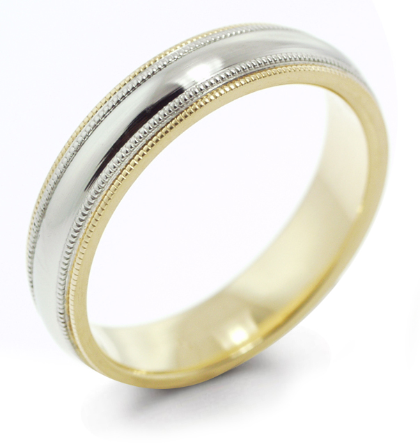 valiant satin gold tone platinum ring products rings two titanium studio