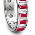 2.15 Carat Ruby and .70 ct. t.w. Diamond Ring In 18kt White Gold