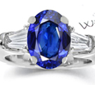 HEAVY JUMBO 18K WHITE GOLD 18.70CTW DIAMOND/BLUE SAPPHIRE FLOWER COCKTAIL RING