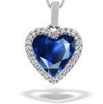 Sapphire pendants sapphire earrings ruby pendants ruby premier blue sapphire diamond studded designer pendants aloadofball Image collections