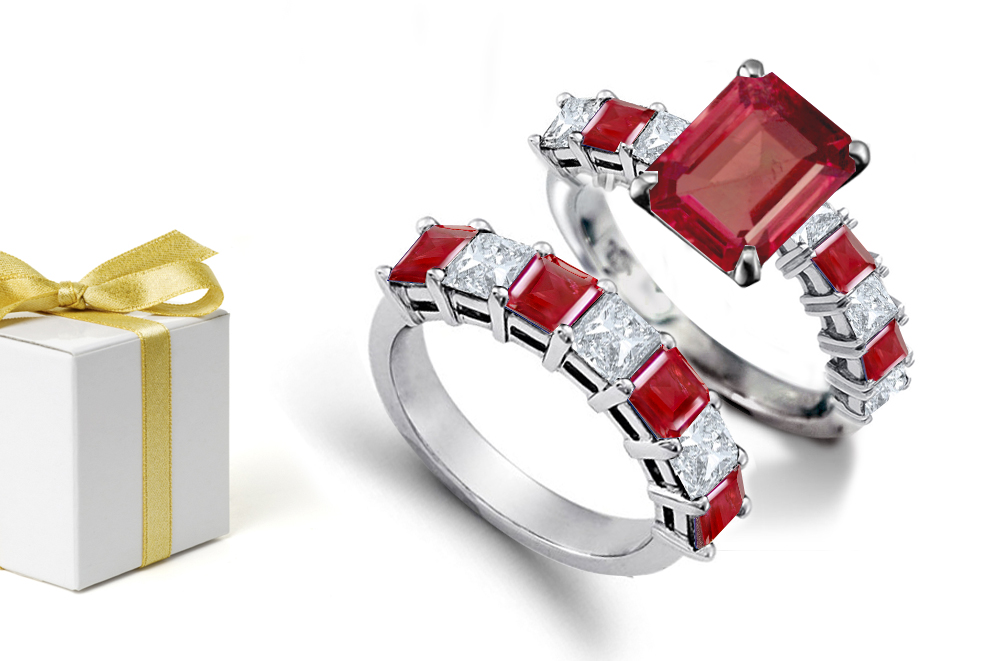 bxydntu diamond red promise rings cute wedding