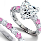 A ladylike has an oval with a few diamonds on either side