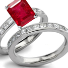 Estate Red Rose Eternal Ruby Jewelry, Antique Ruby Rings