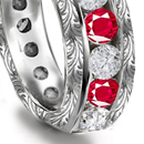 Ruby Diamond Rings, Diamond Ruby Rings, Ruby Diamond Anniversary Bands, Burma Ruby, Thai Ruby, Vietnam Ruby