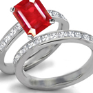 Rose Eternal Ruby and Diamond Ring in Ring Size 6.75