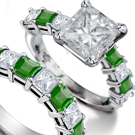 Emerald Diamond Snake Ring with 4.75 Carats Grass Green Genuine Muzo Emeralds from Columbia $575,525.00