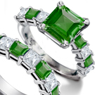 Cartier Diamond and Emerald Bird Ring in 14k Rose Gold with rare fine 5.75 carats Zambian Emeralds $75,000.00