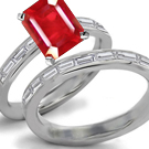 Ruby Ring in 14k Gold Ring Size 9 High 100 mm
