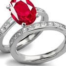 Metal: 950 Platinum Diamond Shape: Emerald cut. Center Diamond Weight: 5.02 ct. Total Diamond Weight: 5.43 ctw. Diamond Clarity: Clean