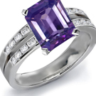 Purple Sapphire Diamond Rings Online Jewelry Store