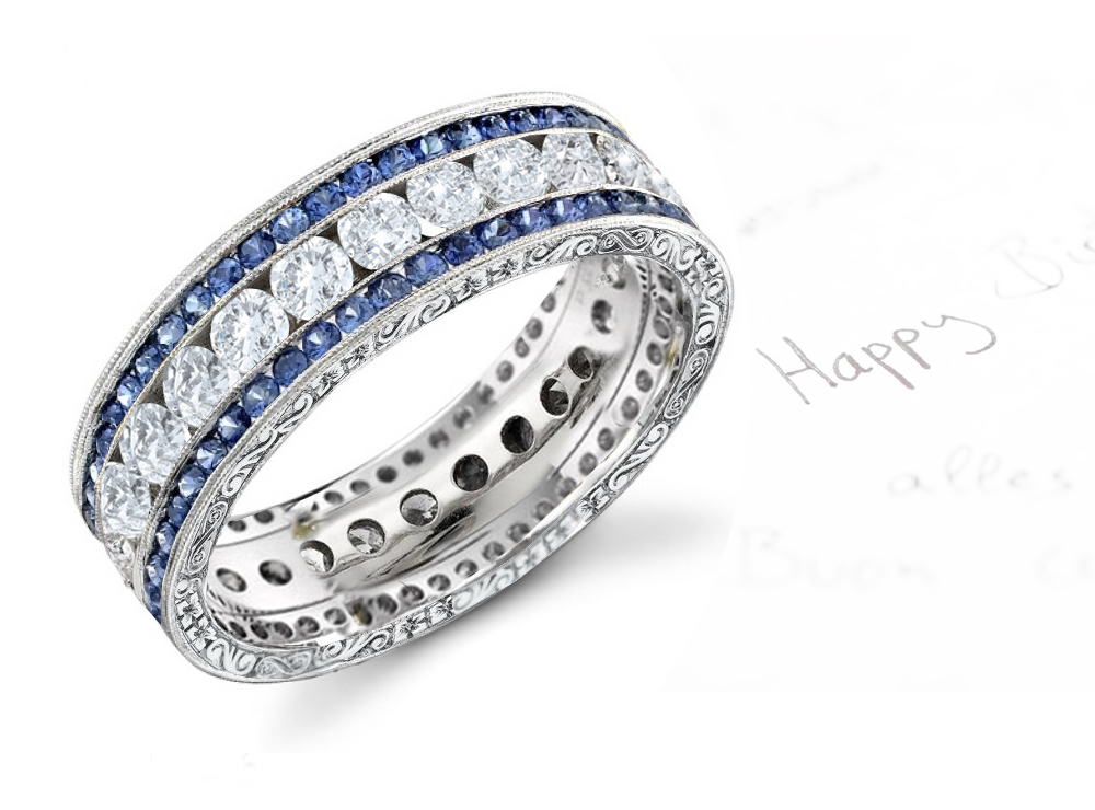 Colored diamond bands images for Colored diamond wedding ring