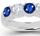 The dazzling princess is made in heaven for eternity bands because the edges line up and create a solid wall of gems