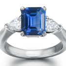 Lady's Sapphire & Diamond Ring 14K White Gold 6.9g Size-8 $1,850 Appraisal