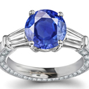 De Beer Diamond Ring with Kashmir Sapphires