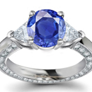 Cullinan Diamond Ring with Burma Sapphires