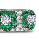 Vera Wang emerald- and baguette-cut diamond ring