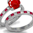 Ruby Art Deco Ring Design with Diamond