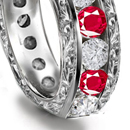 patterns of ruby signet rings