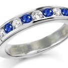 In a price per carat comparison, generally sapphires cost less than diamonds
