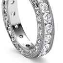 Diamonds, white or of various colors, or alternating with emeralds, pearls, rubies, sapphires, turquoise, opals etc.
