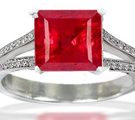 Ruby Eternity Ring with Diamonds