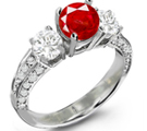 Ruby Heart Diamond Ring is absolutely beautiful. tina