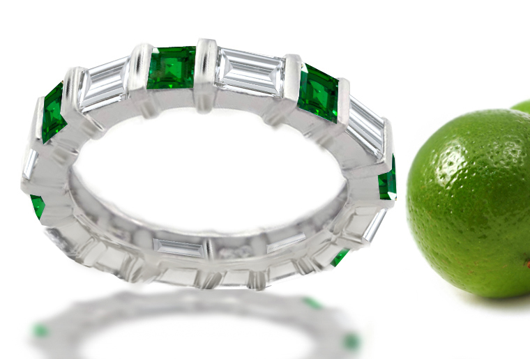 cut white with emerald ct wedding bands yellow gold nl jewelry diamond band in yg stone anniversary