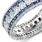 diamond rings represent love throughout a lifetime and beyond