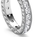 in diamond inlaid or plain gold or platinum shanks