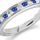 The round brilliant looks classic in simple settings and blends harmoniously with elaborate ring