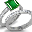 Emerald Rings with Diamonds