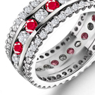 an Edwardian diamond tiara, extra-wide pearl-and-diamond bracelet, and a custom-made 37-carat diamond cross